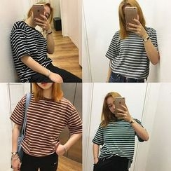 Dute - Striped Short Sleeve T-Shirt