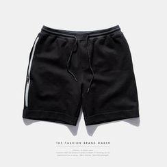 Newin - 3M Reflective-Zipper Shorts
