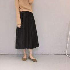 Tiny Times - Pleated Midi Skirt