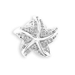 MBLife.com - 18K Gold Starfish Sea Star Diamond Single Stud Earring (0.04 cttw) Women Jewelry