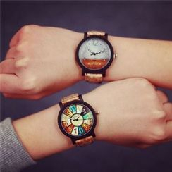InShop Watches - Printed Couple Strap Watch