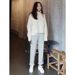 maybe-baby - Band-Waist Knit Pants