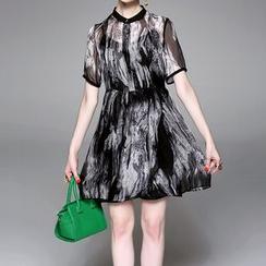 Alaroo - Ink Printed Short-Sleeve Dress