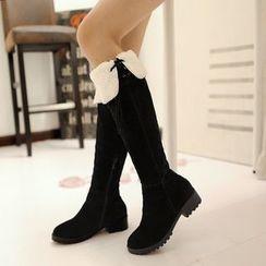 傾城 - 純色過膝靴子