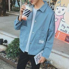 JVI - 纯色饰钮扣夹克
