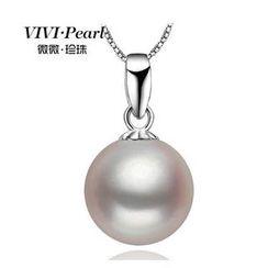 ViVi Pearl - 淡水珍珠吊坠连纯银项链