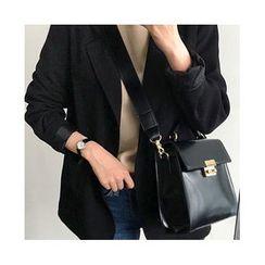 UPTOWNHOLIC - Single-Breasted Pocket-Detail Jacket