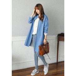 REDOPIN - Cuff-Sleeve Open-Front Coat