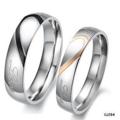Tenri - Couple Heart Titanium Steel Ring