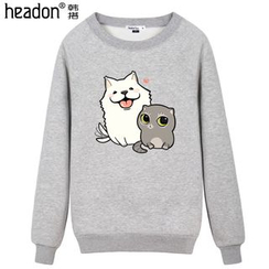 HEADON - Dog&Cat Print Couple Matching Pullover