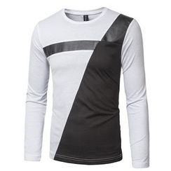Blueforce - Long-Sleeve Color Block T-Shirt