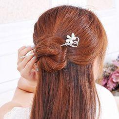 Missy Missy - Rhinestone Faux Pearl Hair Pin