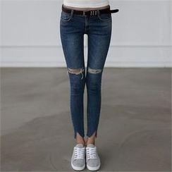 CHICFOX - Cutout Skinny Jeans