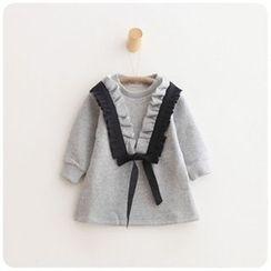 Rakkaus - Kids Frilled-Trim Paneled Pullover Dress