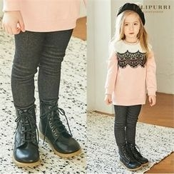 LILIPURRI - Girls Brushed Fleece Lined Leggings