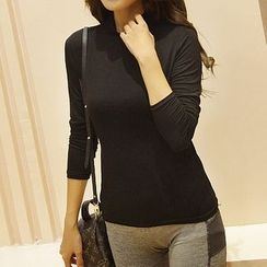 camikiss - Plain Long-Sleeve Top