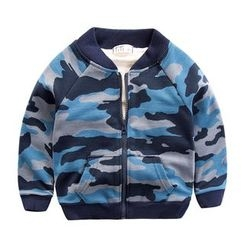 DEARIE - Kids Camo Zip Jacket