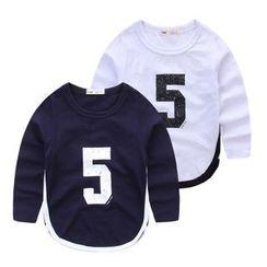 JAKids - 小童長袖數字印花T恤