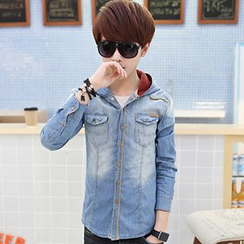 Consto - Hooeded Denim Shirt
