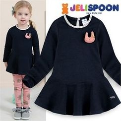 JELISPOON - Girls Appliqué A-Line Dress
