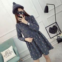 YAMI - Printed Long-Sleeve Shirtdress