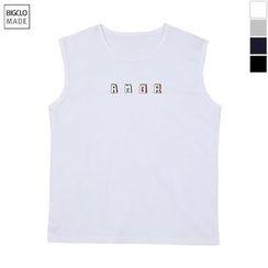 Seoul Homme - Sleeveless Lettering T-Shirt