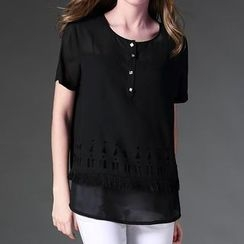 Mythmax - Short-Sleeve Cutout Top