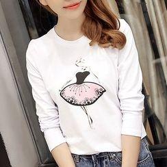 Q.C.T - Print Long-Sleeve T-shirt