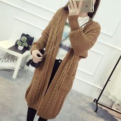 YAMI - Cable-Knit Long Cardigan