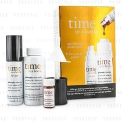 Philosophy - Time In A Bottle Age-Defying Perfect Pair: Face Serum 25ml/0.85oz + Activator 2ml/0.067oz + Eye Serum 15ml/0.5oz