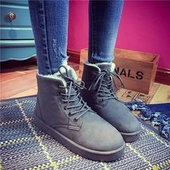 QQ Trend - Lace Up Snow Boots