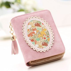 Eustoma - Applique Tasseled Wallet