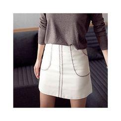 MASoeur - Diamond-Stitched Miniskirt