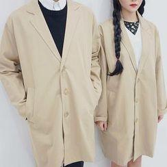 Seoul Homme - Couple Printed Mac Coat