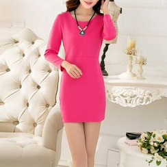 Fashion Street - 3/4-Sleeve Mini Dress