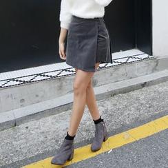Envy Look - Inset Shorts Corduroy Mini Skirt