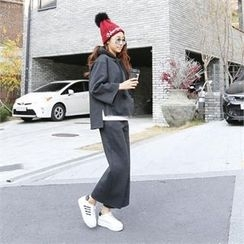 PIPPIN - Set: Hooded Pullover + Wide-Leg Sweatpants