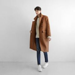 Seoul Homme - Wool-Blend Double-Breasted Coat