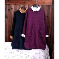 tete - Pocket-Accent Long Sweater