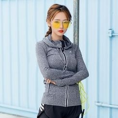Cara Cloud - Hooded Sports Zip Jacket