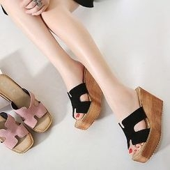 Mancienne - Wedge Slide Sandals