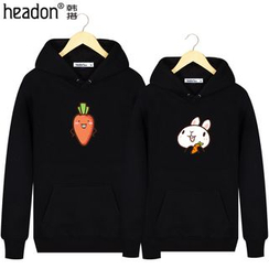 HEADON - Rabbit Print Hooded Couple Matching Pullover