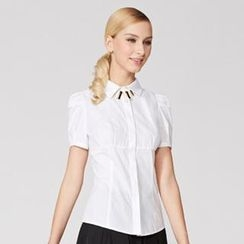 O.SA - Shirred Short-Sleeve Shirt