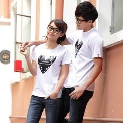 Porspor - Couple Matching Print T-Shirt