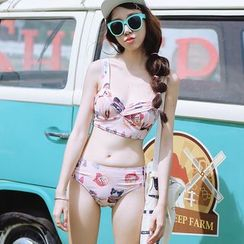 Beach Date - Set: Printed Bikini + Shorts