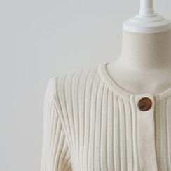 DAILY LOOK - Button-Detail Ribbed Knit Top