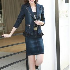 Romantica - Set: Denim Jacket + Pencil Skirt