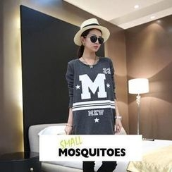 Small Mosquitoes - Lettering Long-Sleeve Long Top