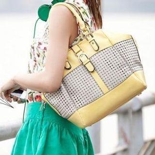 MBaoBao - Buckled Perforated Shoulder Bag