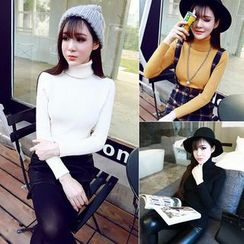 Whitney's Shop - Turtleneck Knit Top